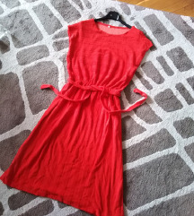 Crvena frotir haljinica *NOVO*