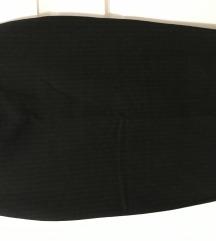 Crna prugasta uska pencil suknja