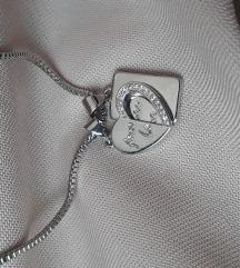 Ogrlica sa 2 priveska za parove