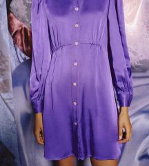 Zara ljubičasta nova haljina sa etiketom