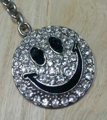 Privezak za ključeve i torbu Smiley