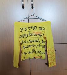 Žuta crop majica