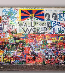 Pop art poster na platnu/ Berlin