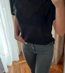 REZZ😻 AMISU bluza sa pertlama 😻 miš siva