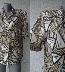 košulja svilena crno drap broj 42 DELMOD