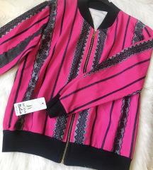 Italijanska pink jakna sa printom NOVA sa et