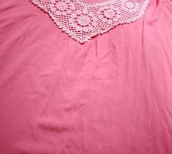 Bluza, majica, roza, cipka, 44