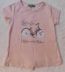 CICHILD baby roze majica sa masnicom pozadi NOVA