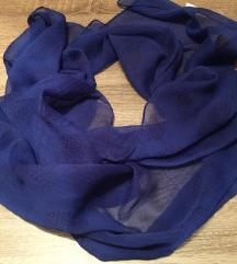 Plavo crna ešarpa