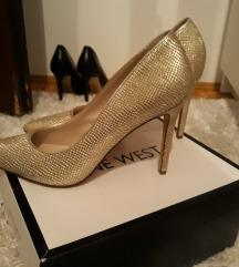 Nine West cipele kozne nove zlatne