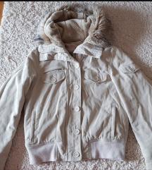 Zimska kratka krem jakna