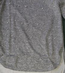 Siva bluza sa perlicama DOGOVOR