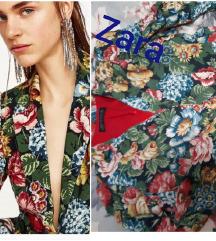 ZARA Floral Print Puf rukavi L