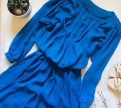 Postavljena haljina vintage M L