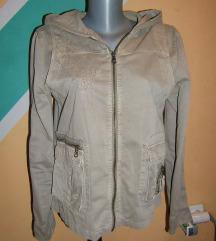 Pamučna tanka jakna sa kapuljačom