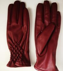 nenošene  bordo rukavice