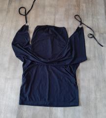 Zimska crna haljinica, univerzalan broj, NOVO