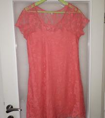 Narandzasta haljina od cipke