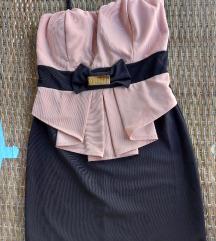 Haljina crno roze