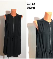 Crna zip haljina