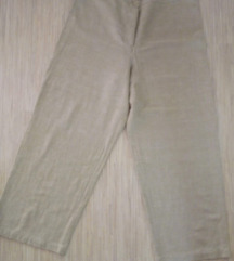 Lanene bež-zelene pantalone 3/4 XL