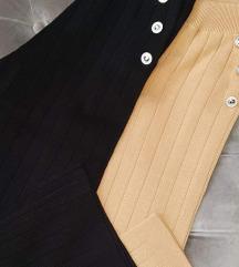 Pantalone kao nove crne S/m sniz 1500
