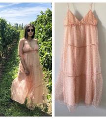 Zara cvetna haljina od organze✨NOVO