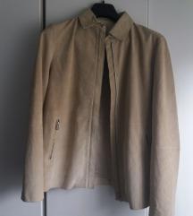 Prirodna koža- velur jakna/ sakol xl