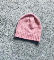 Nova roze pletena kapa
