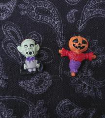 Halloween Vampire & Pumpkin broš