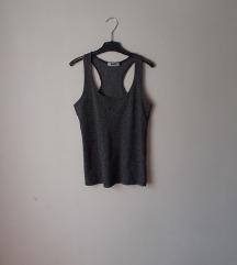 STRADIVARIUS srebrna racerback majica