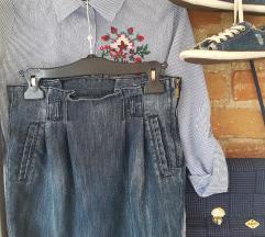 Stradivarius teksas mini suknja+poklon