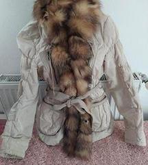 SNIZENO!!! Vera Pelle jakna sa pravim krznom S/M