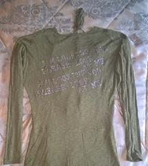 Zelena majica bez ledja