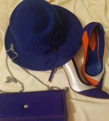 Sesir, royal blue, vintage