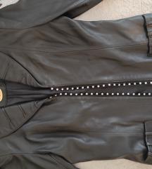 MONA kožna jakna sa svarovski cirkonima