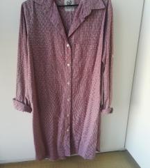 Haljina-košulja model, rozikasto bordo, nenošeno