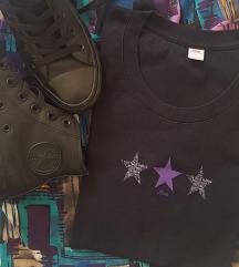 %%%St.Oliver crna majica sa ljubicastim zvezdama