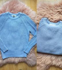 H&M baby blue baggy dzemper
