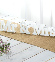 Mr & Mrs...novo..svadba..dekoracija
