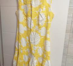 Žuto bela letnja haljina