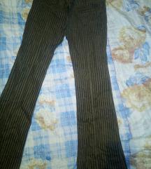 Mango somotne zvonaste pantalone M