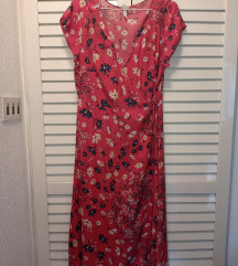 Crvena haljina sa cveticima