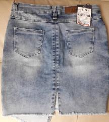 teksas mini suknja nova