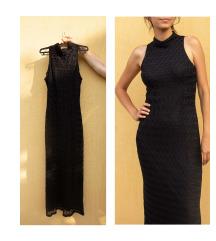Duga haljina sa heklanim motivima