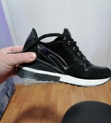 Cipele-patike sa platformom od prirodne koze
