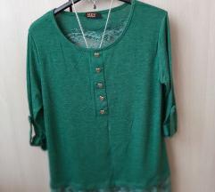 Predivna , romanticna zelena bluza