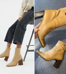 Buffalo London VINTAGE camel ankle boots