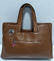 ITALY velika torba prirodna 100%koža 34x27