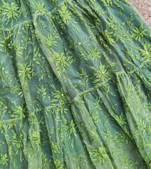 UNIKAT-Suknja od vezenog mrezastog tila